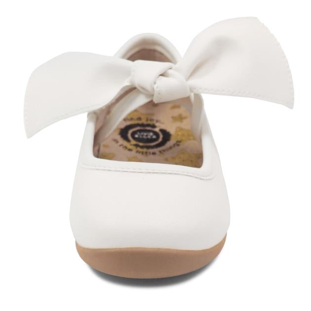 Halley Ballet Flat in Bright White  - Doodlebug's Children's Boutique