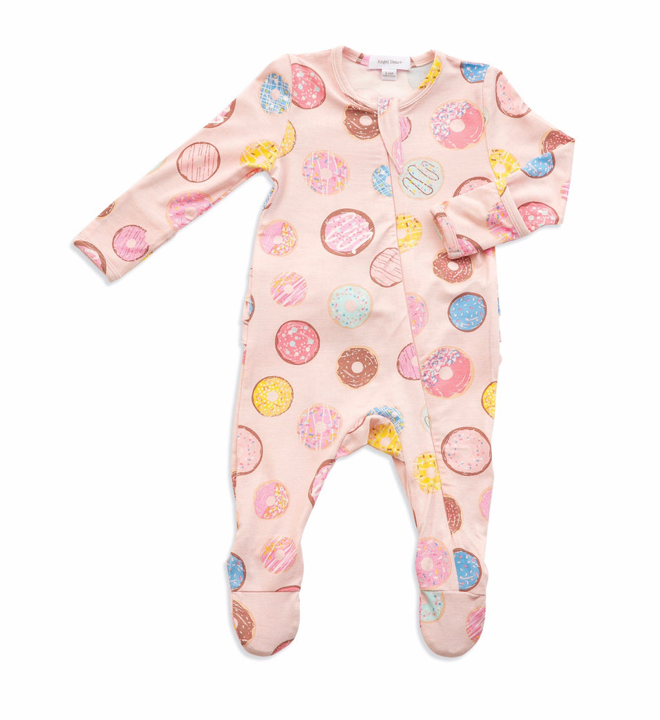 Angel Dear Donuts Ruffle Back Zipper Footie