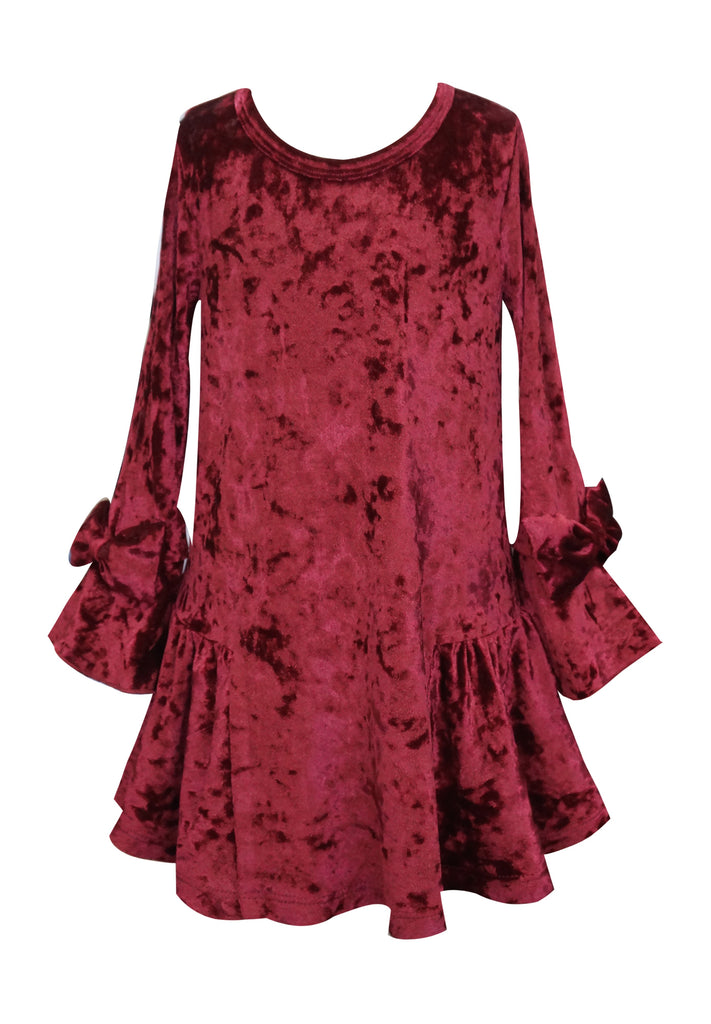 Baby Sara Velvet Bow Dress