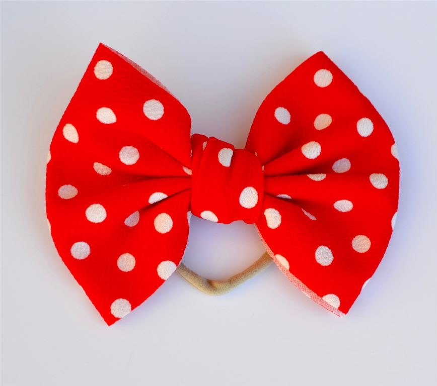 Red Dots Bella Bow Red Dots - Doodlebug's Children's Boutique