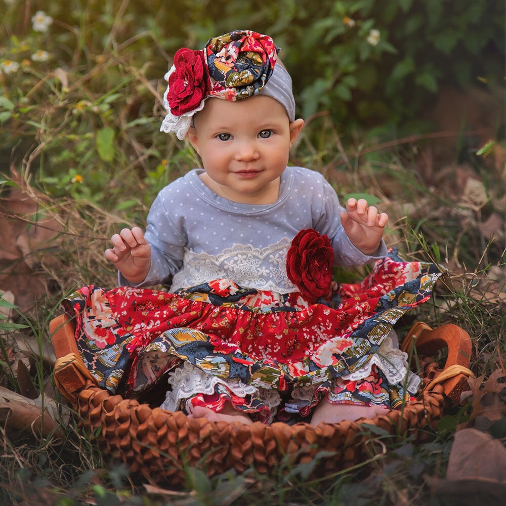 Haute Baby Autumn Blooms Coverall