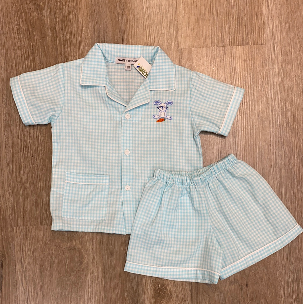 Easter Button Down Pajamas  - Doodlebug's Children's Boutique
