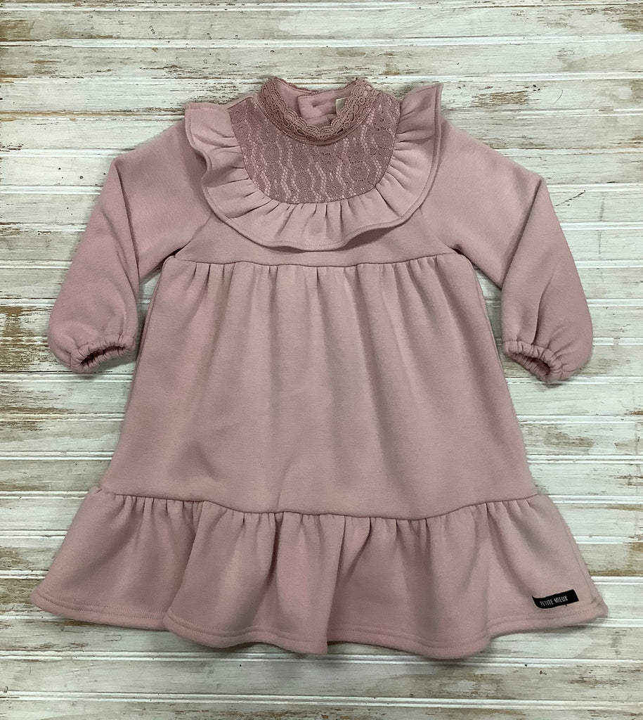 Pink Frill Sweater Dress  - Doodlebug's Children's Boutique
