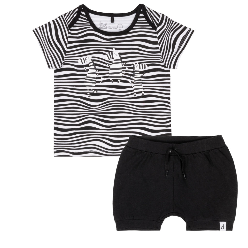 Deux Par Deux Zebra Set  - Doodlebug's Children's Boutique