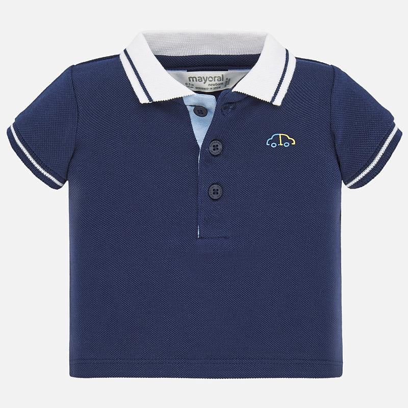 Navy Polo Shirt  - Doodlebug's Children's Boutique