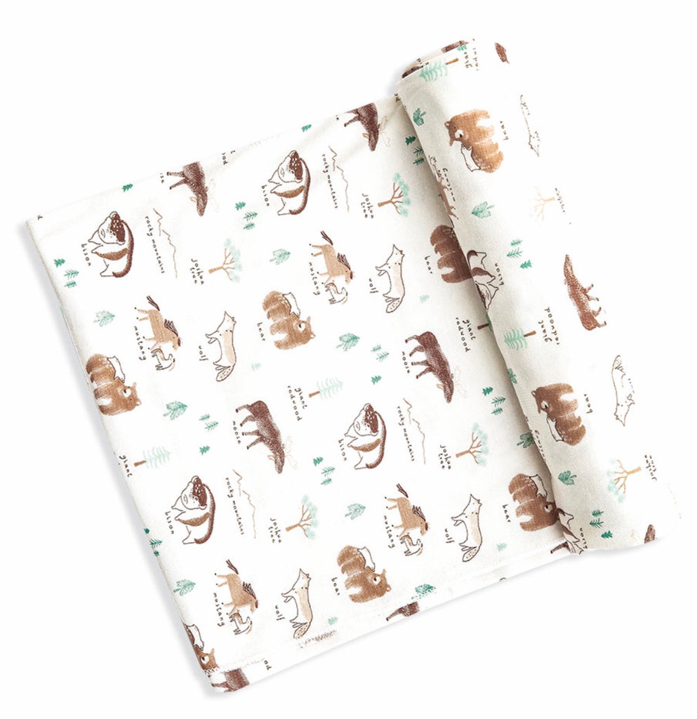 Angel Dear Western Wilderness Bamboo Swaddle Blanket  - Doodlebug's Children's Boutique