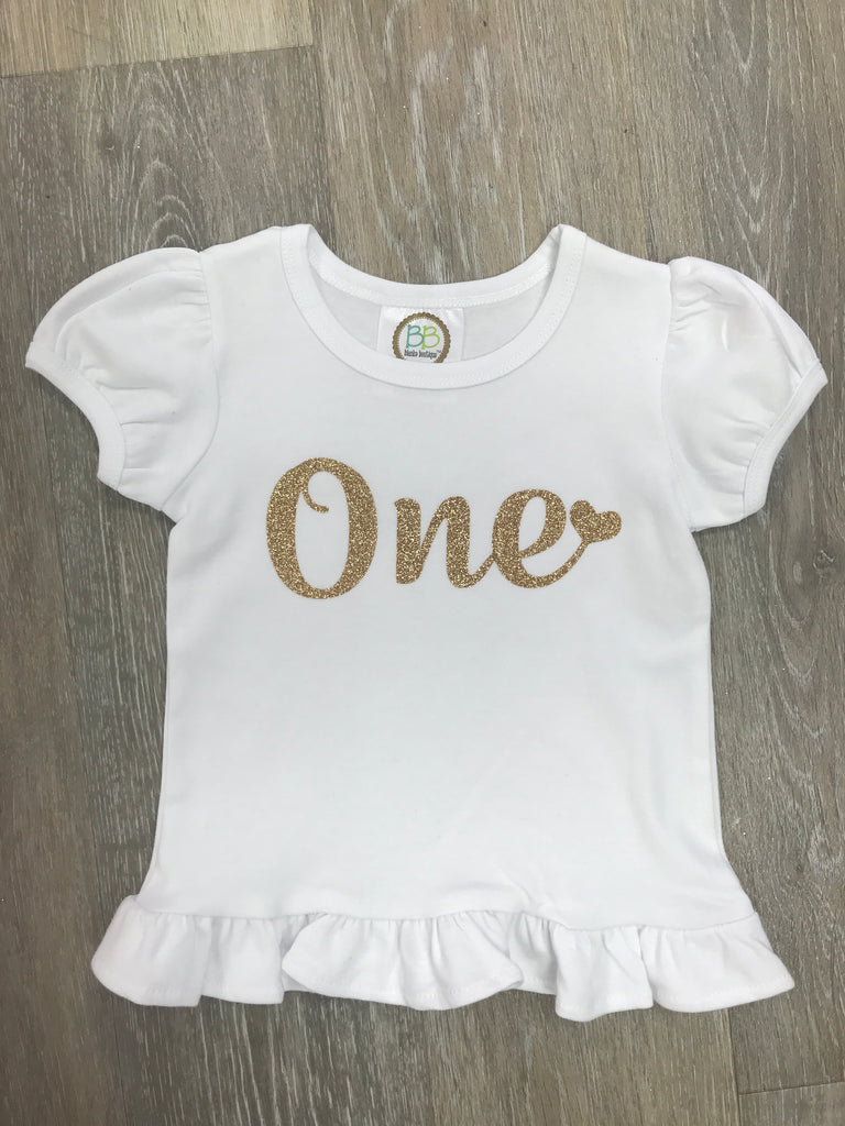 One Glitter Shirt  - Doodlebug's Children's Boutique
