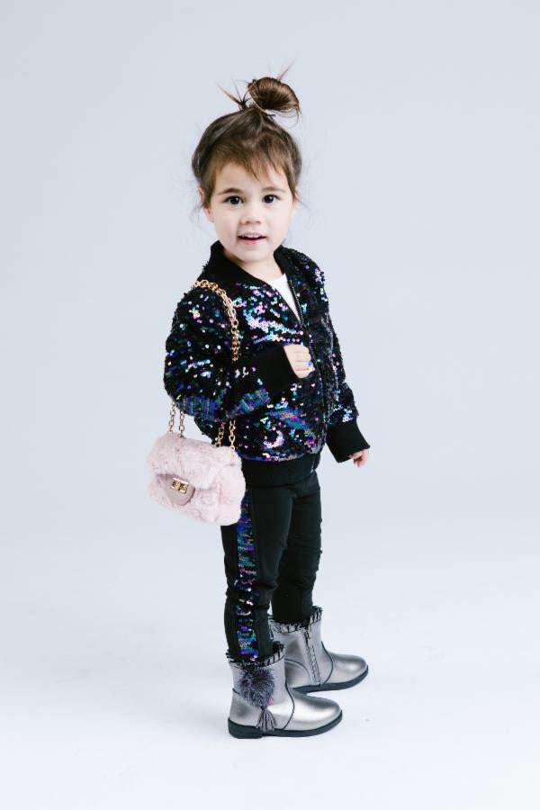Doe A Dear Sequin Jacket and Leggings Set