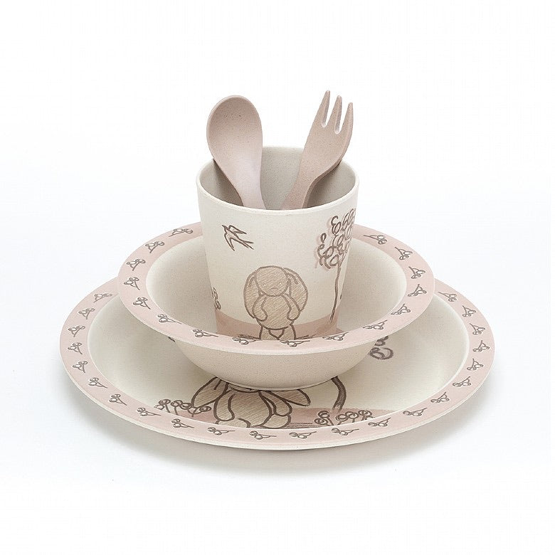 My Friend Bunny Bamboo Tableware Set  - Doodlebug's Children's Boutique
