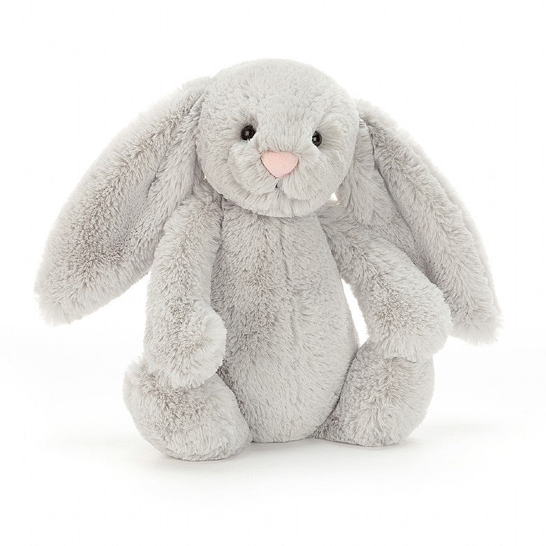 Bashful Medium Grey Bunny  - Doodlebug's Children's Boutique