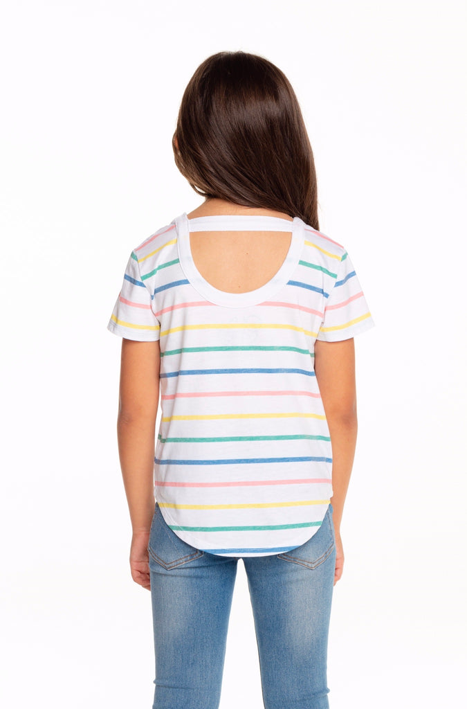 Stripe Jersey Scoop Back Shirt  - Doodlebug's Children's Boutique