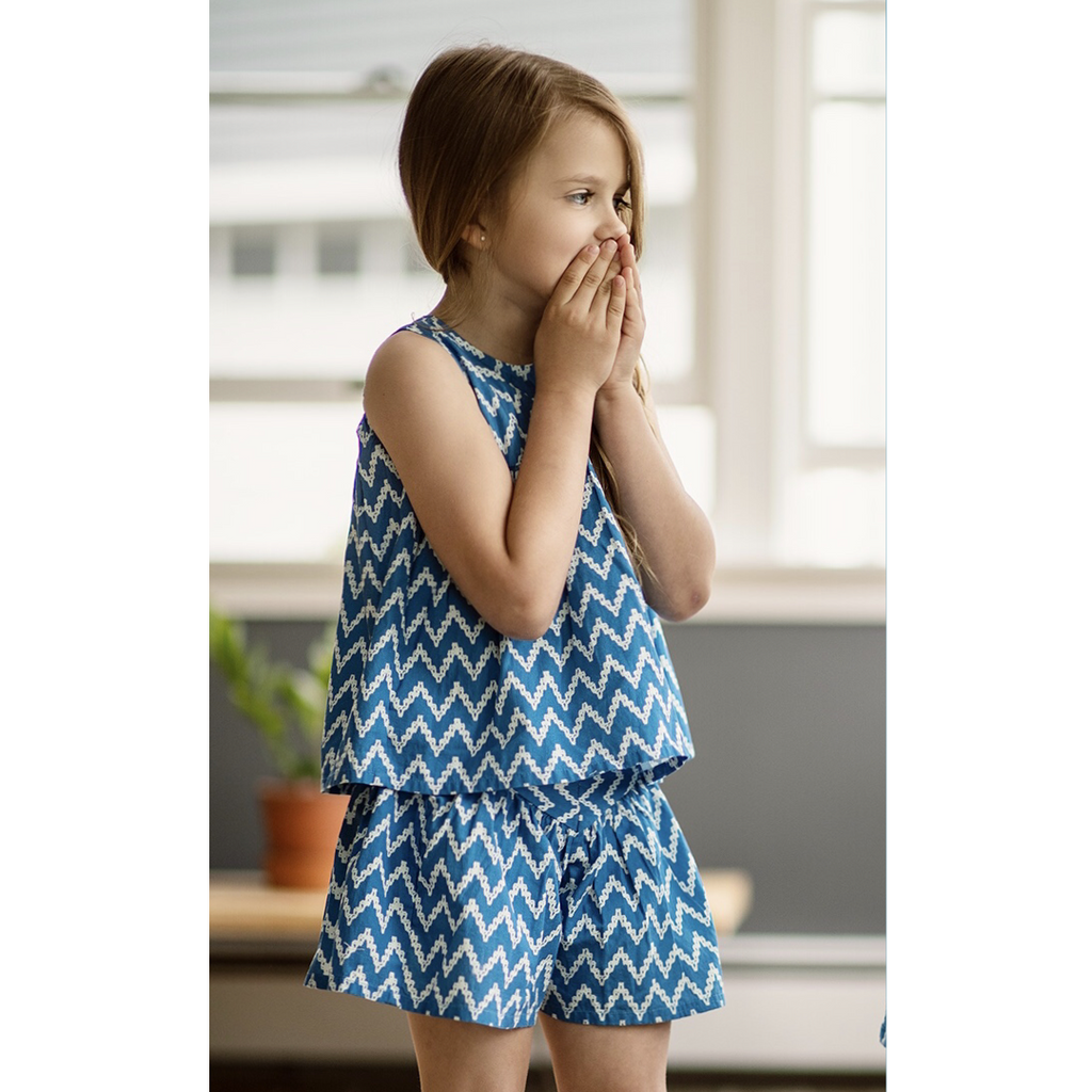 Ellie Short Set in Nautical Summer  - Doodlebug's Children's Boutique