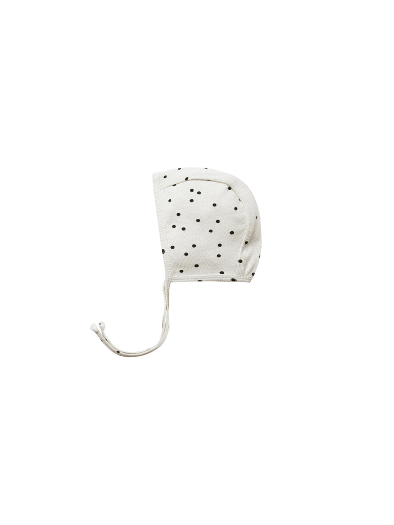 Pebble Dot Ribbed Bonnet  - Doodlebug's Children's Boutique