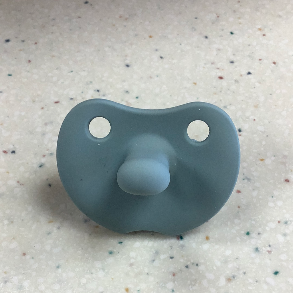 Flat Sili Soother in Seafoam  - Doodlebug's Children's Boutique