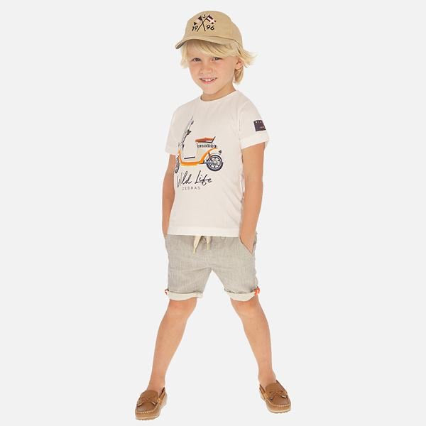 Bermuda Shorts in Cream  - Doodlebug's Children's Boutique