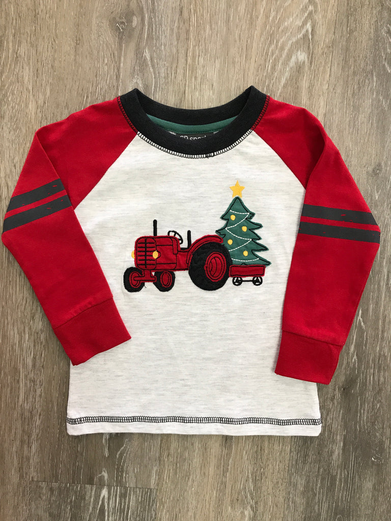CR Sports Christmas Tractor Shirt  - Doodlebug's Children's Boutique