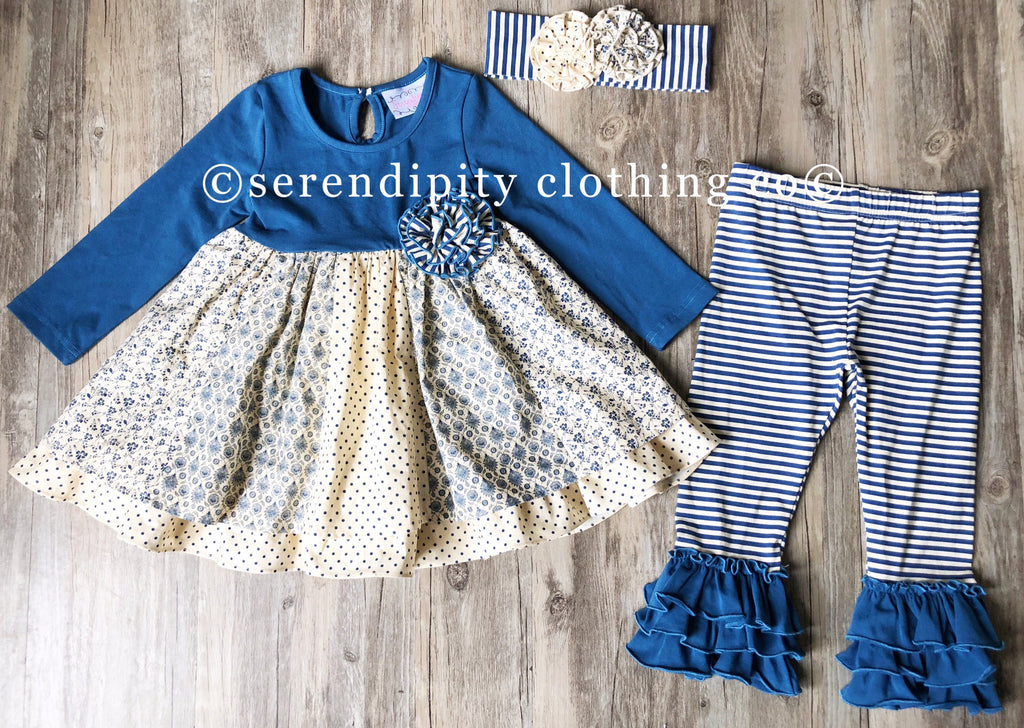 Serendipity Into the Woods Ruffle Dress with Leggings