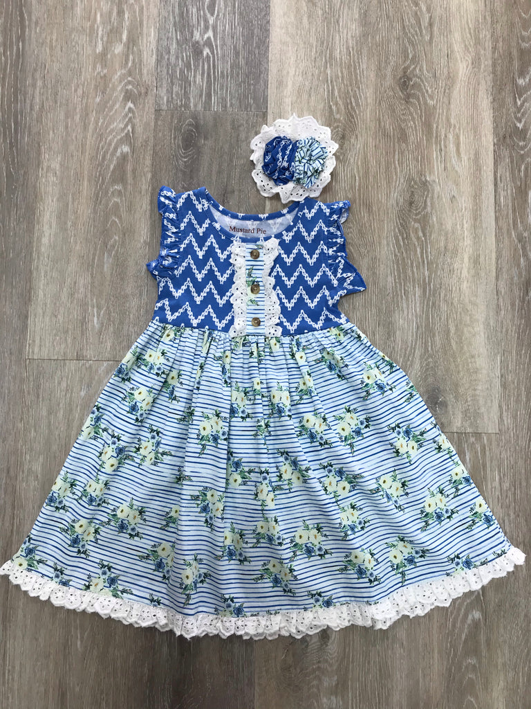 Dylan Dress in Nautical Summer Nautical Summer / 12 months - Doodlebug's Children's Boutique