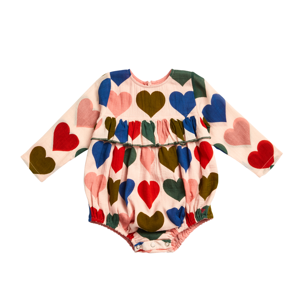 Frances Bubble in Strawberry Cream Hearts  - Doodlebug's Children's Boutique