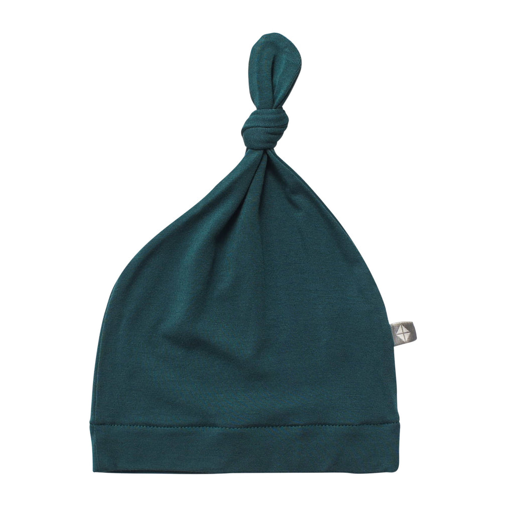 Knotted Hat in Emerald Emerald / 0-3 months - Doodlebug's Children's Boutique