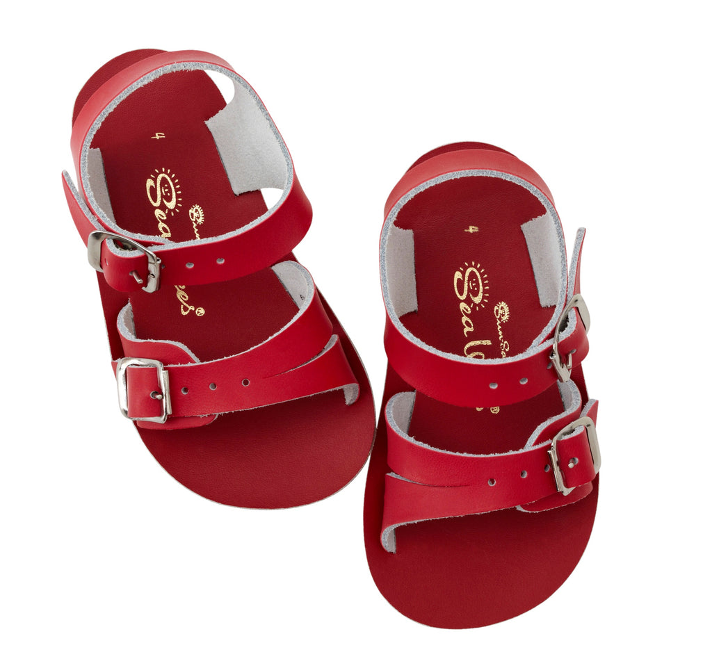 Sea Wee in Red Red / 0 - Doodlebug's Children's Boutique