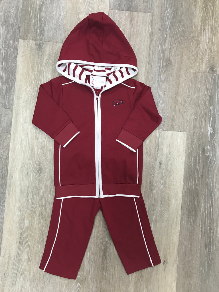 Arkansas Razorback Hooded Jacket Set  - Doodlebug's Children's Boutique
