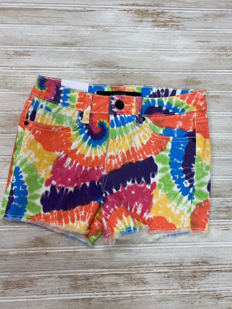 The Chloe Short in Rainbow Tie Dye  - Doodlebug's Children's Boutique