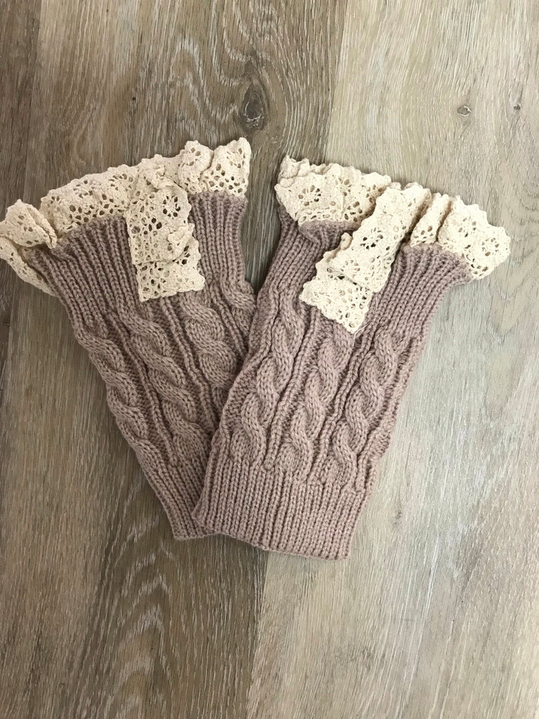 Doodlebugs Boot Cuffs/Leg Warmers Tan / Ankle - Doodlebug's Children's Boutique