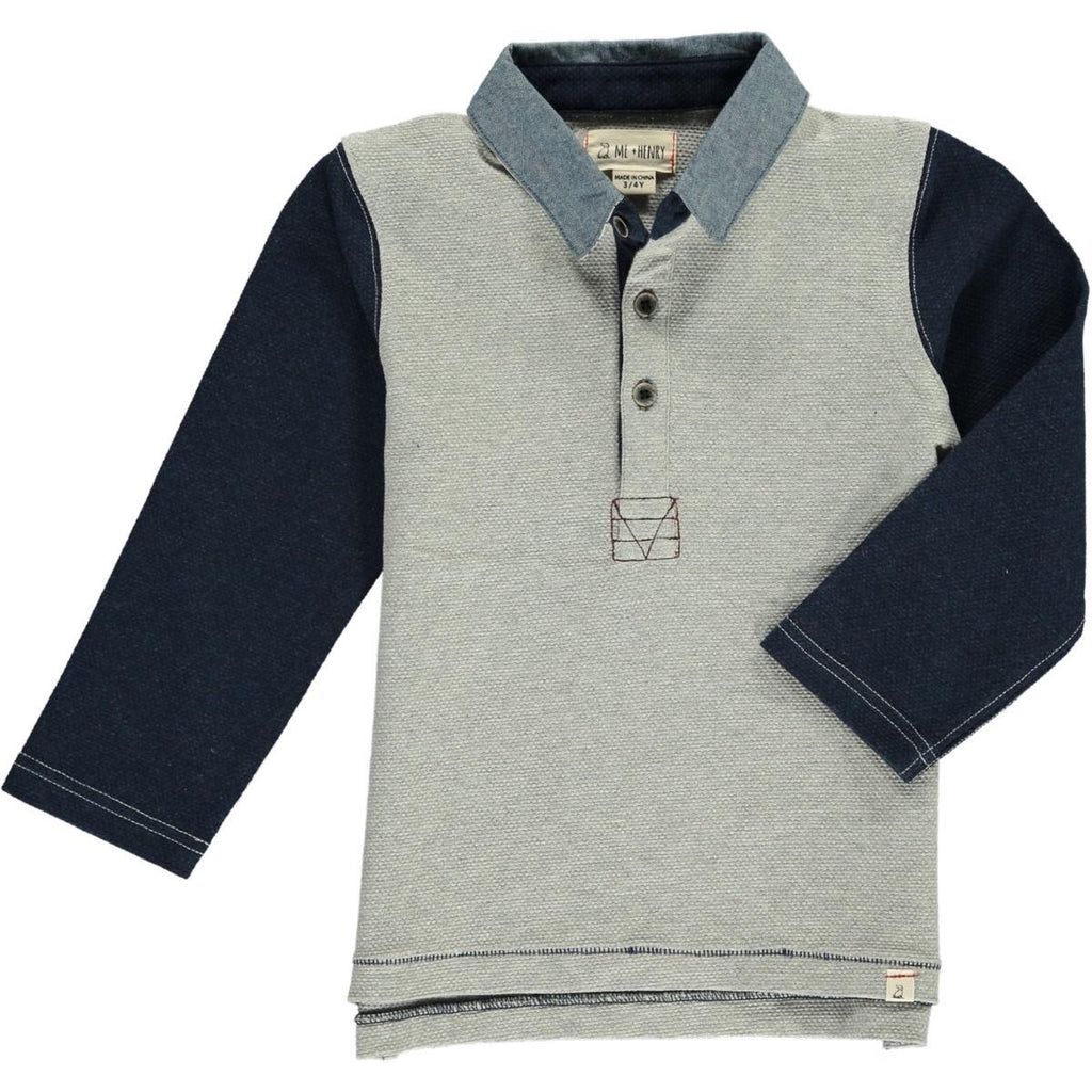 Me & Henry Long-Sleeved Rugby Shirt  - Doodlebug's Children's Boutique