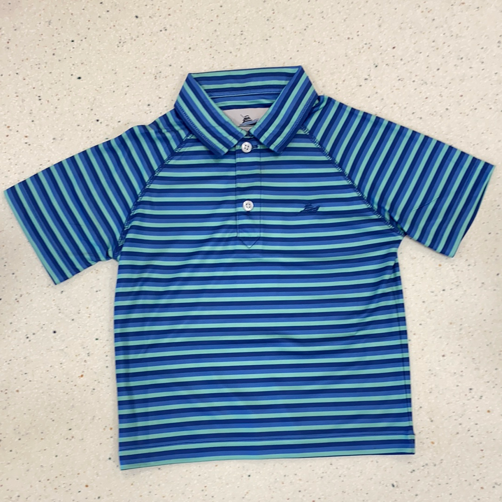 Polo in Regatta, Opal, True Blue  - Doodlebug's Children's Boutique