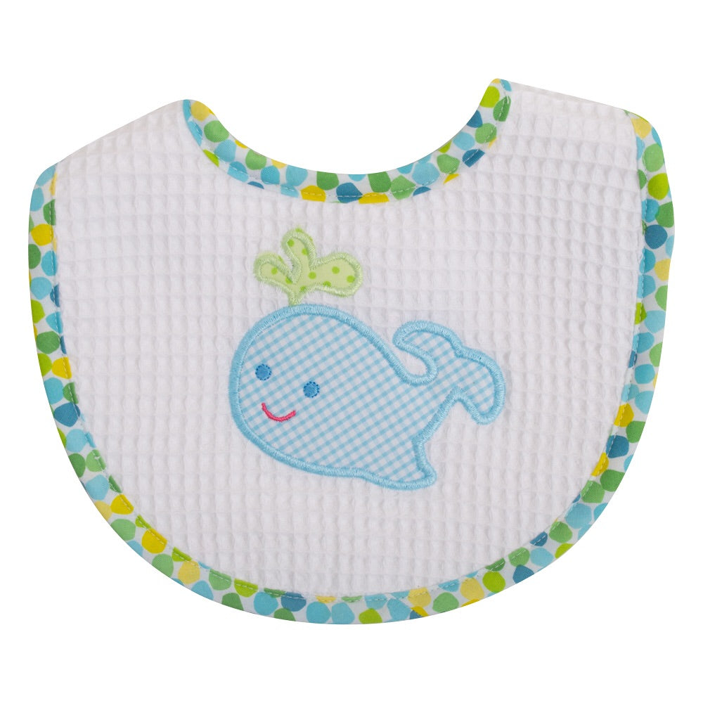 Blue Whale Medium Bib Blue Whale - Doodlebug's Children's Boutique