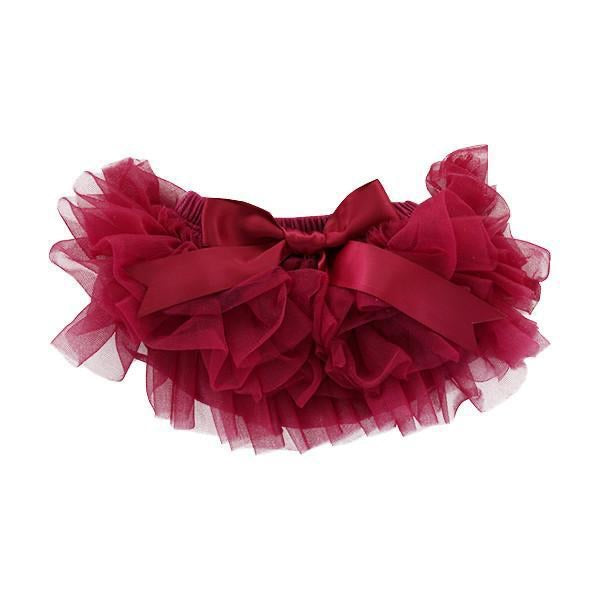 Tutu Bloomer in Maroon Newborn-3 months / Maroon - Doodlebug's Children's Boutique