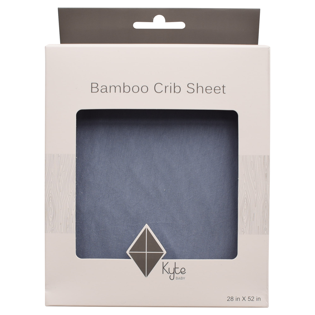 Bamboo Crib Sheet in Slate  - Doodlebug's Children's Boutique