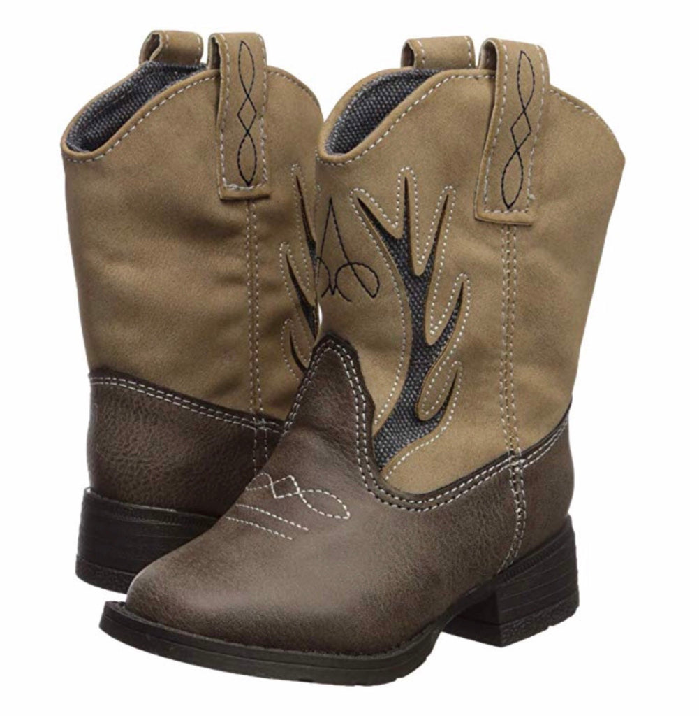 Brown and Taupe Antler Boot  - Doodlebug's Children's Boutique