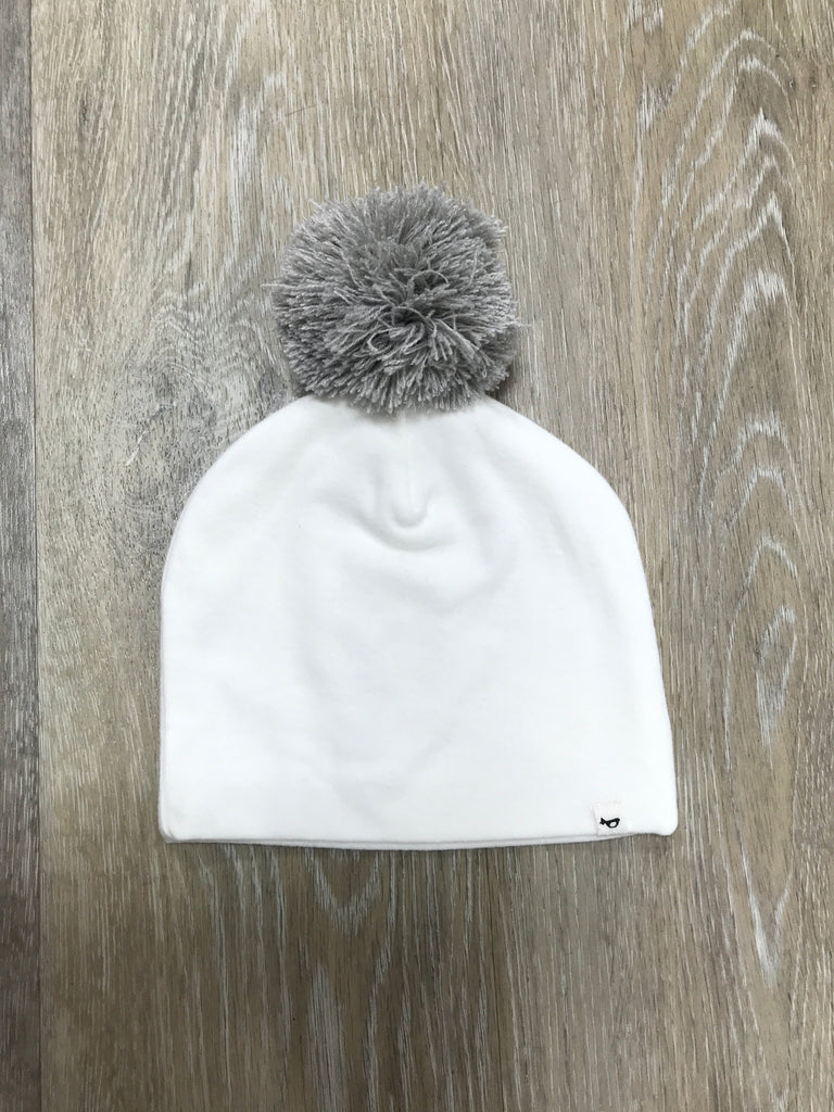 Grey Jumbo Pom Hat Gray - Doodlebug's Children's Boutique