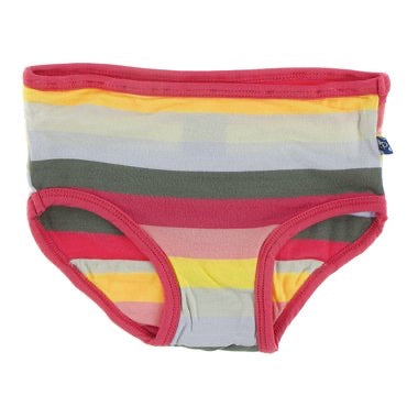 Girl Underwear in Biology Stripe  - Doodlebug's Children's Boutique