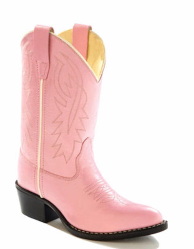 Old West Pink Classic Child Boot  - Doodlebug's Children's Boutique
