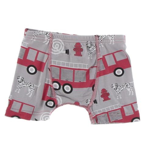 Boxer Brief in Feather Firefighter  - Doodlebug's Children's Boutique