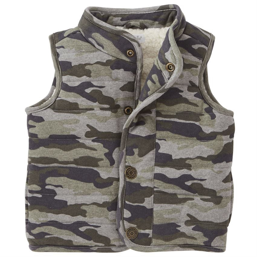 Mud Pie Camo Quilted Vest