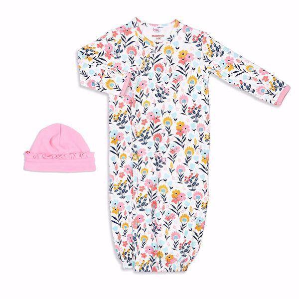 Magnetic Me Organic Gown and Hat Set Girl