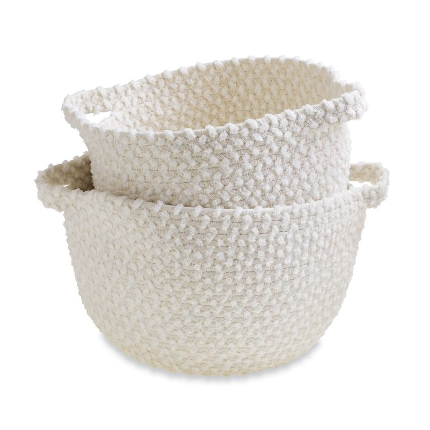 Ivory Rope Basket Set  - Doodlebug's Children's Boutique