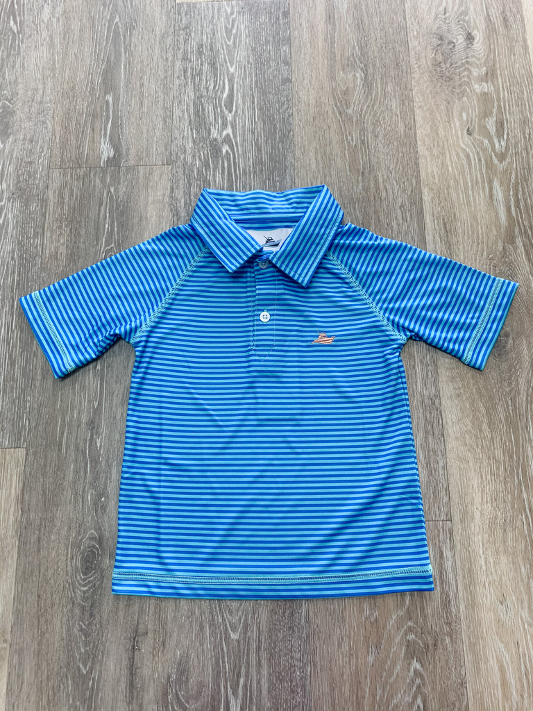 Blue Regatta Polo Blue/Regatta / 2T - Doodlebug's Children's Boutique