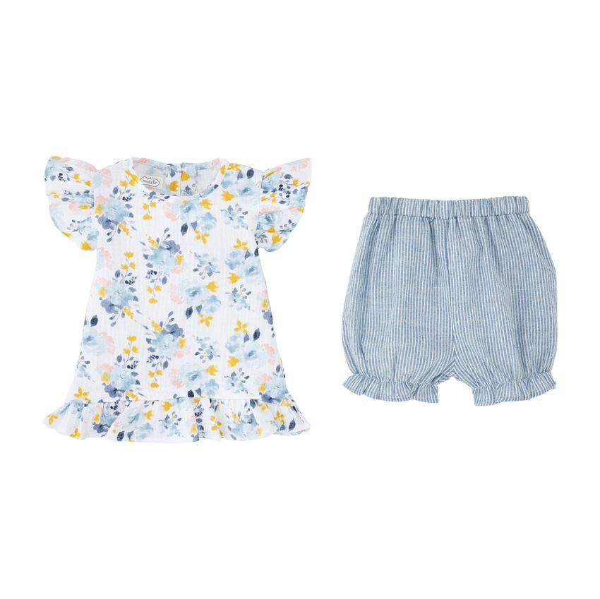 Floral Shirt and Shorts Set  - Doodlebug's Children's Boutique