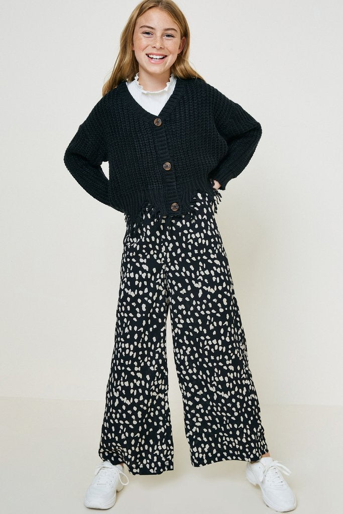 Dotted Wide Leg Pant  - Doodlebug's Children's Boutique