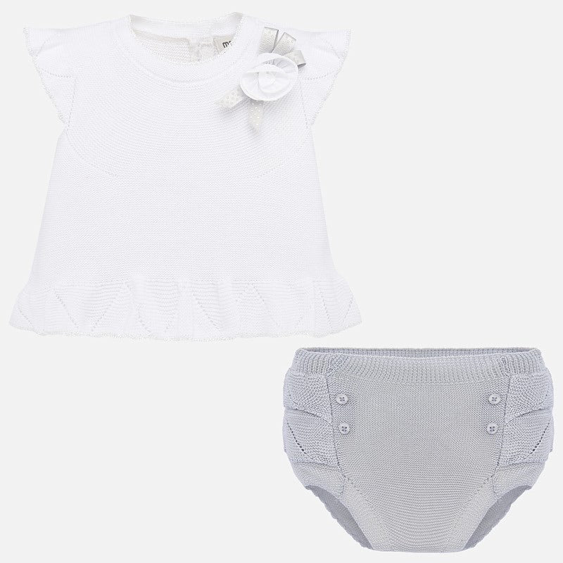 Knit Floral Bloomer Set  - Doodlebug's Children's Boutique