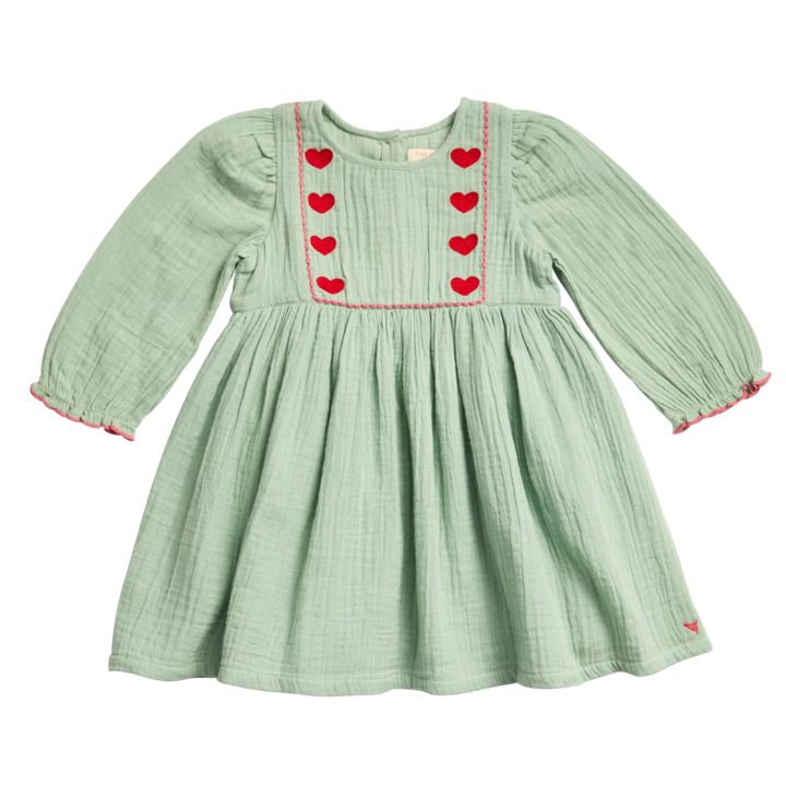 Nicky Dress in Frosty Green  - Doodlebug's Children's Boutique