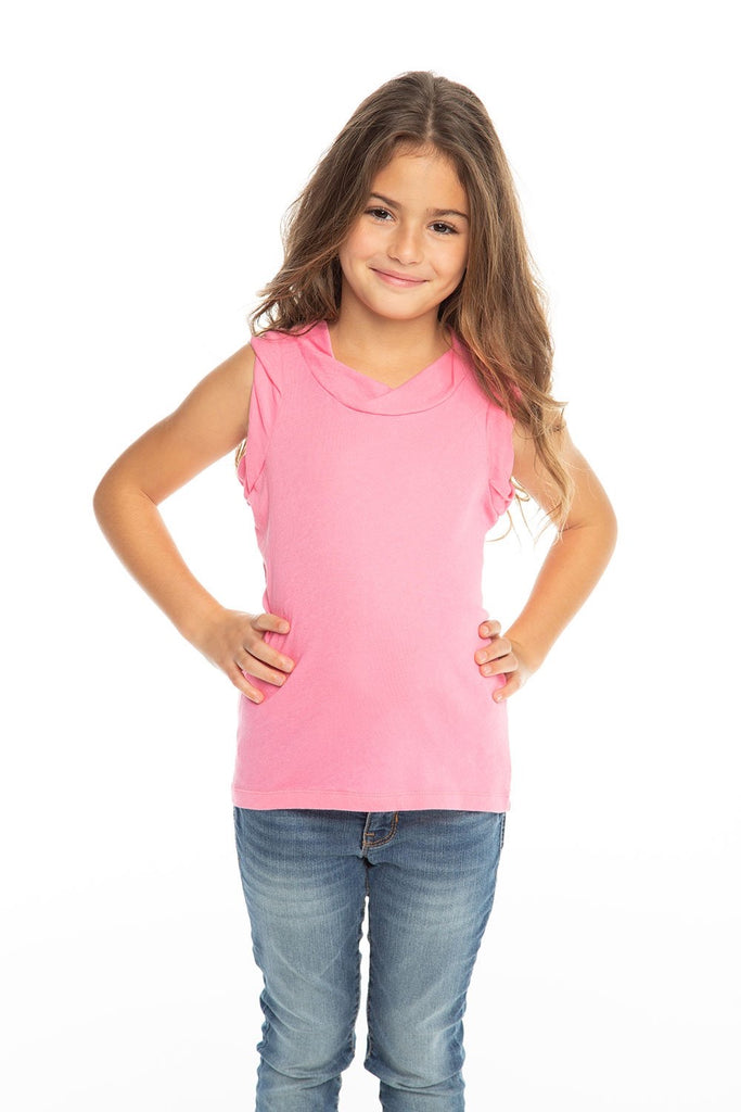 Gauzy Cotton Rolled Armhole Muscle Tank  - Doodlebug's Children's Boutique