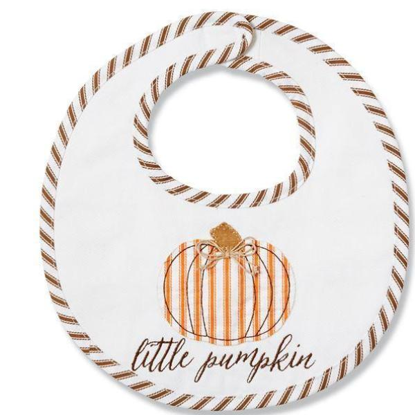 Little Pumpkin Bib  - Doodlebug's Children's Boutique