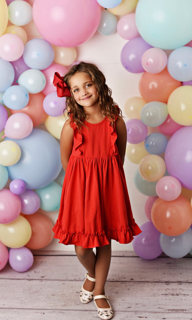 Red Bella Essentials Dress  - Doodlebug's Children's Boutique