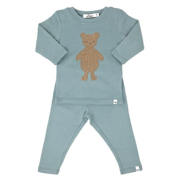Misty Blue Bear Set  - Doodlebug's Children's Boutique